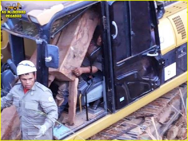 Operador quase morre esmagado no 1º dia de trabalho 1